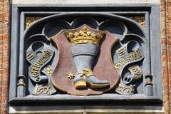 Boot with Crown, Brugge, Belgium Stock Image