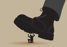 Boot Crushing Royalty Free Stock Photography