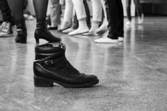 Boot on a dance floor Stock Photography