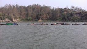 Boot, Davite, Scow, Skiff, Bangladesch, Rangamati, See, Tourismus, Tourist, Besuch, Bauerbe lizenzfreies stockbild