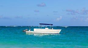 Boot in de Dominicaanse Republiek van Punta Cana Bavaro Stock Foto's