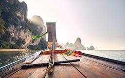 Boot in de Eilanden van Thailand stock afbeeldingen