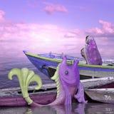 Boot in de Indische kust Royalty-vrije Stock Fotografie