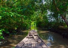 Boot in de Mekong Delta Stock Fotografie