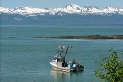 Boot in der Bucht Stockfotografie