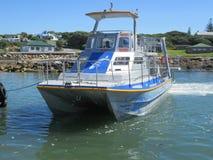 Boot in der Bucht von Hermanus Stockfotos