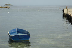 Boot in der ibiza Insel Stockfoto