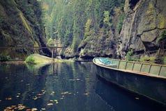Boot in der Schlucht Stockfotografie
