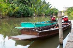 Boot des langen Schwanzes in Chaopraya-Fluss Stockfoto