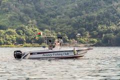 Boot des neugierigen Aviavy-Fischen-Vereins ist Madagaskar Lizenzfreie Stockfotos