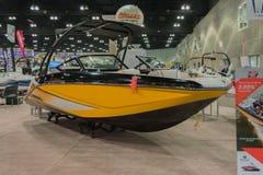 Boot des Scarabäus 215 auf Anzeige Stockbilder