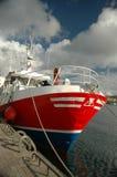 Boot die bij haven wordt gedokt Royalty-vrije Stock Afbeelding