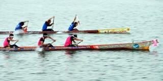 Boot die in Narathiwat, Thailand rennen Stock Afbeelding
