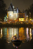Boot die van Nieuwmarket naderbij komen Stock Foto