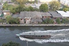 Boot en canal1 Stock Afbeeldingen