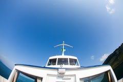 Boot en hemel Royalty-vrije Stock Foto's