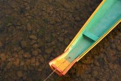 Boot en rivier van lao Stock Afbeeldingen