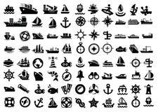 Boot en schip Stock Afbeelding