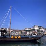 Boot für den Porto-Wein stockfotografie