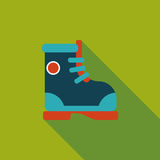 Boot flat icon with long shadow Stock Images