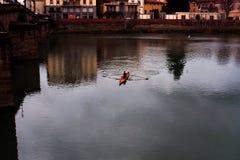 Boot in Florenz Lizenzfreies Stockfoto