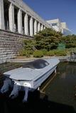 Boot gekennzeichnet im Kriegs-Denkmal von Korea, Jeonjaeng ginyeomgwan, Yongsan-Dong, Seoul, Südkorea - November 2013 lizenzfreie stockbilder