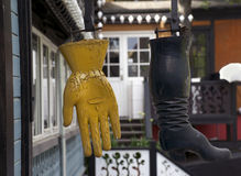 Boot and glove Stock Photography