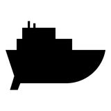 Boot Glyphikone Lizenzfreies Stockfoto
