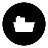 Boot Glyphikone - Fracht Stock Abbildung