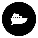 Boot Glyphikone - Fracht Lizenzfreie Stockfotografie