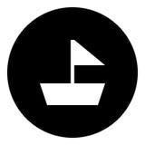 Boot Glyphikone - Segelboot Lizenzfreie Stockbilder