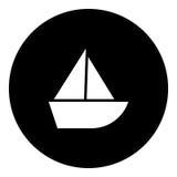 Boot Glyphikone - Segelboot Lizenzfreie Stockfotos