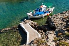 Boot in Griekenland Stock Foto's