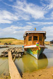 Boot am Hafen Stockfoto