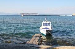 Boot in Haven Limenas - Thassos Griekenland 4 Royalty-vrije Stock Foto's