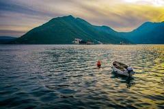 boot in het Adriatische Overzees Royalty-vrije Stock Foto's