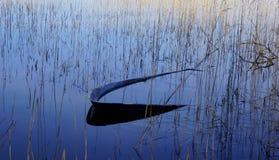 Boot in het meer Royalty-vrije Stock Foto
