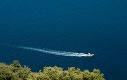 Boot in het overzees Royalty-vrije Stock Foto