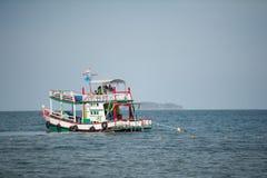 Boot in het overzees Stock Foto's