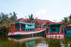 Boot in Hua Hin Floating Market in Hua Hin thailand royalty-vrije stock afbeeldingen