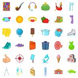 Boot icons set, cartoon style. Boot icons set. Cartoon style of 36 boot vector icons for web isolated on white background Royalty Free Stock Photos