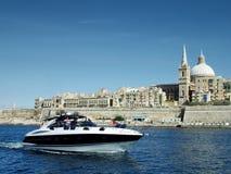 Boot im Hafen Stockbild
