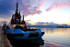 Boot im Hafen Lizenzfreie Stockfotos