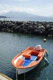 Boot im Hafen in Neapel, Italien Lizenzfreie Stockbilder