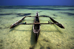 Boot im Meer Stockfoto