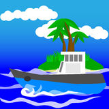 Boot im Meer Stockfotografie