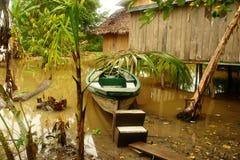 Boot im vilage auf Bali Lizenzfreies Stockfoto