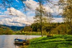 Boot, Lake, Water, Rowing Boat Stock Photo