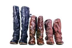 Boot, Leather boots Royalty Free Stock Images