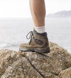 Boot and leg Royalty Free Stock Images